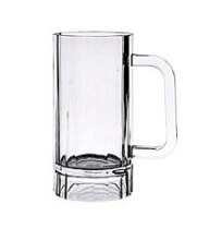Thunder Group PLPCM001 - Polycarbonate Beer Mugs 16 Oz. (Pack of 24)
