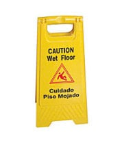 "Thunder Group PLWFC024 - Fold Out Wet Floor Sign 24"" x 12"""