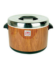 Thunder Group SEJ73000 - 60 Cup Woodgrain Insulated Sushi Rice Pot