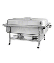 Thunder Group SLRCF002 - Full Size Stainless Steel Rectangular Chafer With Plastic Footing