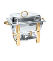 Thunder Group SLRCF0834GH - Gold Accented Chafer 4 Qt.