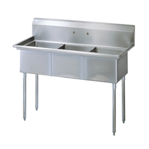 Universal SK2472-3 - Three Compartment Utility Sink - 75