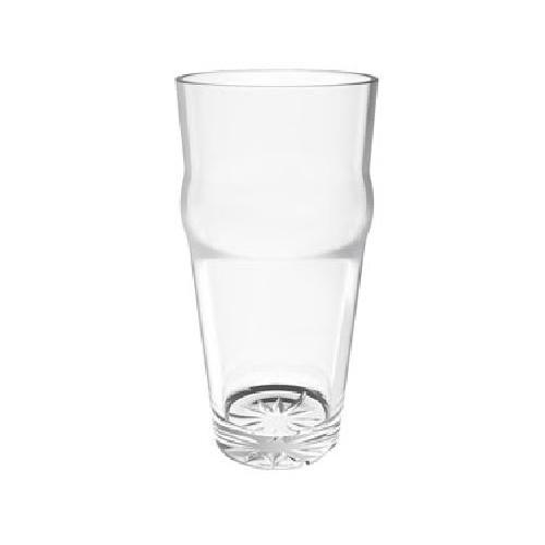 Thunder Group PLTHEP020C - 20 oz. English Pub Glass - Polycarbonate - Clear - Case of 12