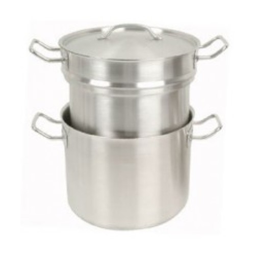 Thunder Group Stainless Steel Double Boiler with Cover 8 Qt [SLDB008]