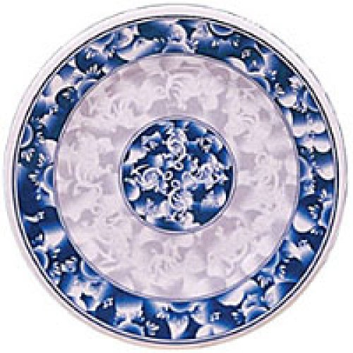 Thunder Group Round Plate - Blue Dragon Collection 15-1/2