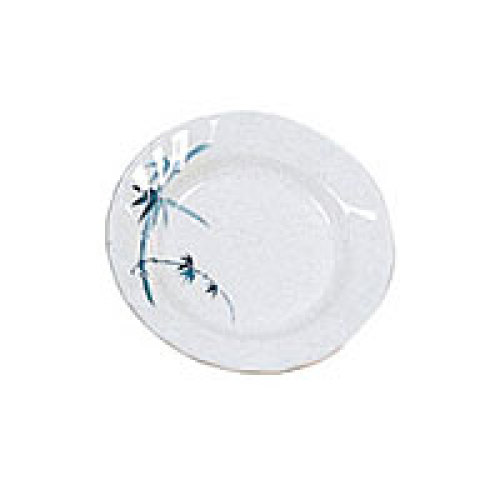 Thunder Group Curved Rim Round Plate - Blue Bamboo Collection 9 1/4