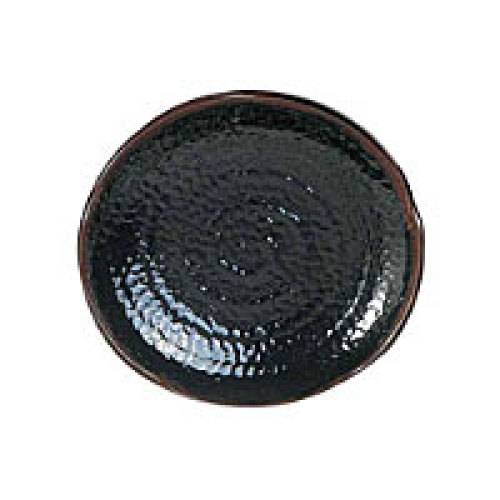 Thunder Group Lotus Shape Plate - Tenmoku Collection 10-1/2