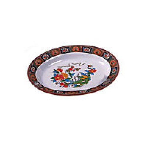 Thunder Group Deep Oval Platter - Peacock Collection 10