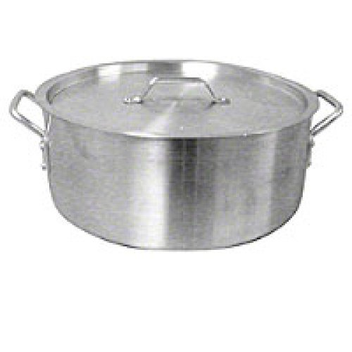 Thunder Group Aluminum Brazier Pot & Lid w/ Mirror Finish 24 Qt [ALSKBP005]