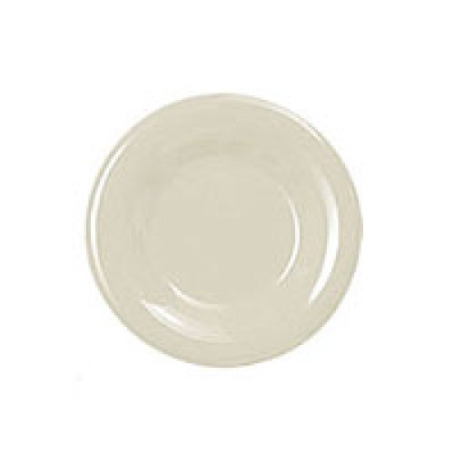 Thunder Group Round Wide Rim Round Plate - Ivory - 6-1/2