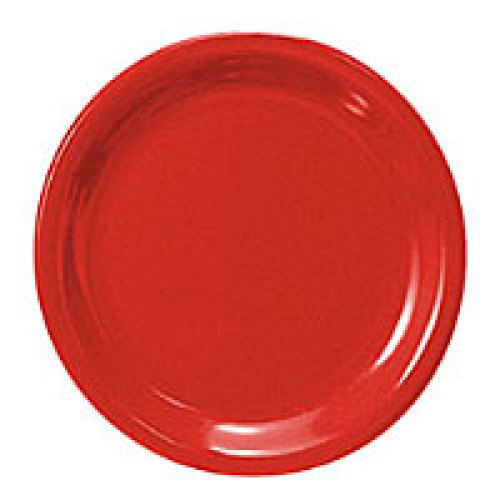 Thunder Group Narrow Rim Round Plate - Pure Red - 10-1/2