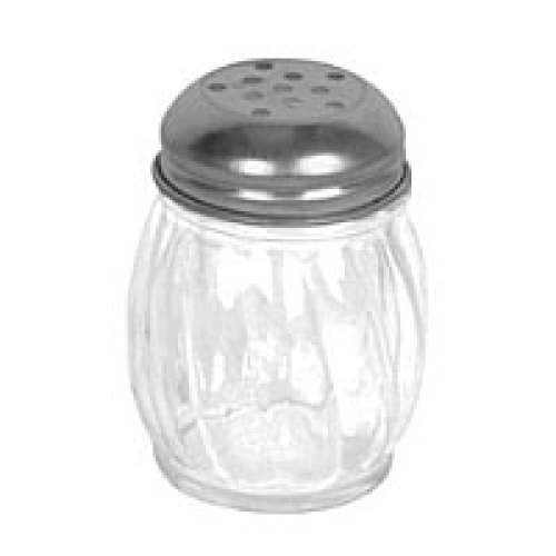 Thunder Group Swirl Cheese Shaker w/ Perforated Top 6 oz (12 per Case) [GLTWCS006P]