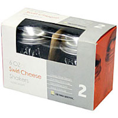 Thunder Group Swirl Cheese Shaker w/ Perforated Top Set 6 oz (12 per Case) [GLTWCS006PT]