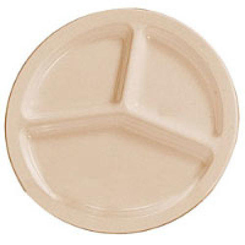 Thunder Group Nustone Tan Deep Compartment Plate 10