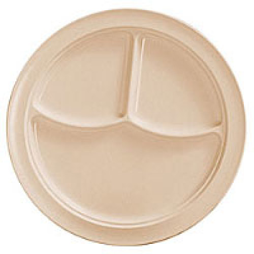 Thunder Group Nustone Tan Deep Compartment Plate 10-3/16
