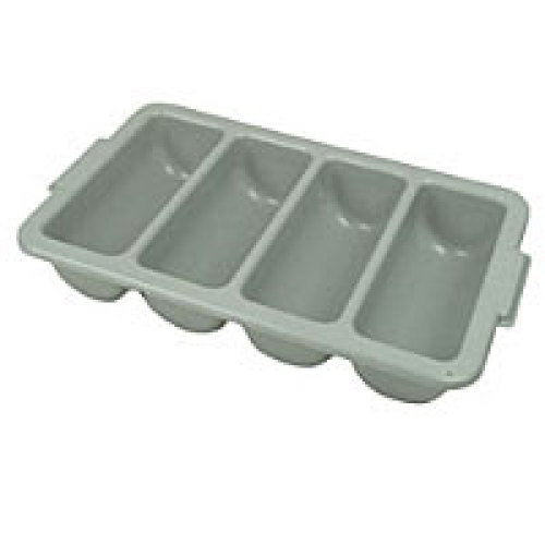 Thunder Group 4-Compartment Grey Cutlery Box [PLFCCB001]