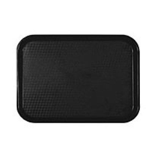 Thunder Group Black Fast Food Tray 12