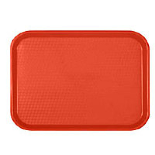 Thunder Group Red Fast Food Tray 14