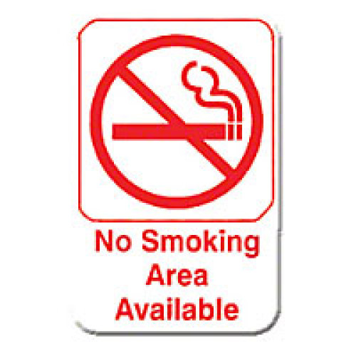 Thunder Group No Smoking Area Available Sign 9
