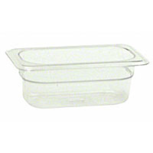 Thunder Group Ninth-Size Polycarbonate Solid Food Pans 2-1/2