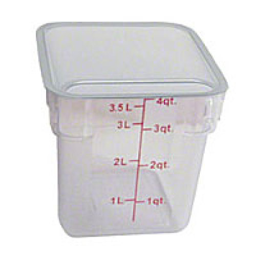 Thunder Group Polycarbonate Food Storage Container 4 Qt (6 per Case) [PLSFT004PC]