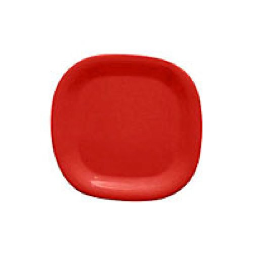 Thunder Group Passion Red Round Square Plate 8-1/4