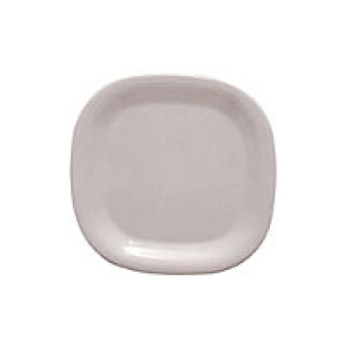 Thunder Group Passion White Round Square Plate 8-1/4