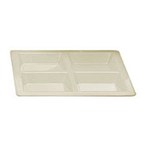 Thunder Group Passion Pearl Rectangular Four Section Compartment Tray (6 per Case) [PS5104V]
