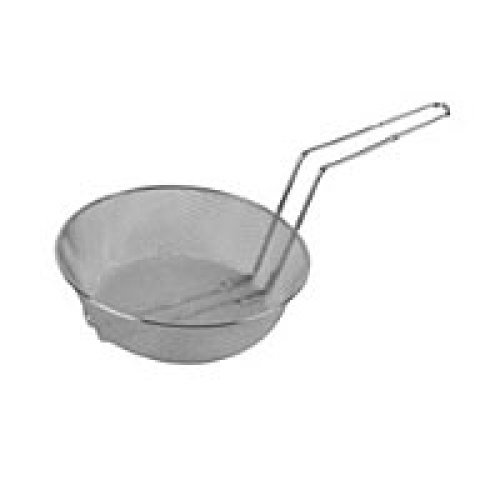 Thunder Group Nickel Plated Round Mesh Culinary Basket 8