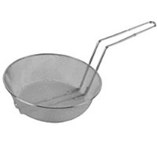 Thunder Group Nickel Plated Round Mesh Culinary Basket 12