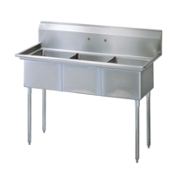 Universal SK2154-3 - Three Compartment Utility Sink - 57