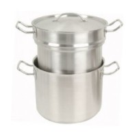 Thunder Group Stainless Steel Double Boiler with Cover 16 Qt [SLDB016]