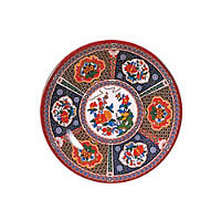 Thunder Group Round Plate - Peacock Collection 12-5/8