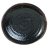 Thunder Group Round Platter Ripple - Tenmoku Collection 16
