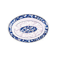 Thunder Group Deep Oval Platter - Blue Dragon Collection 12