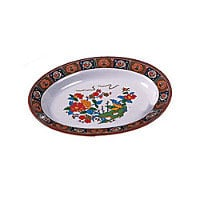 Thunder Group Deep Oval Platter - Peacock Collection 12