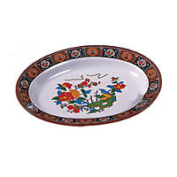 Thunder Group Deep Oval Platter - Peacock Collection 13