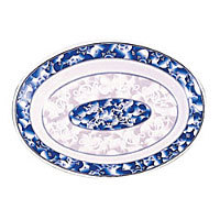 Thunder Group Deep Oval Platter - Blue Dragon Collection 14