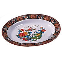 Thunder Group Deep Oval Platter - Peacock Collection 14
