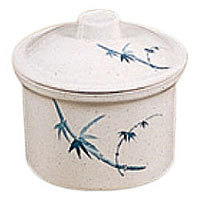Thunder Group Special Bowl with Lid - Blue Bamboo Collection 13 oz. (12 per Case) [3504BB]