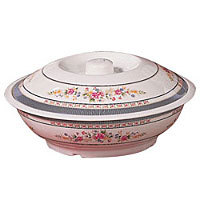 Thunder Group Serving Bowl with Lid  - Rose Collection 37 oz [8011AR]