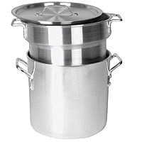 Thunder Group Aluminum Heavy Gauge Double Boiler with Mirror Finish 12 Qt [ALSKDB002]