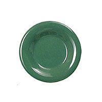 Thunder Group Round Wide Rim Round Plate - Green - 6-1/2