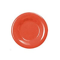 Thunder Group Round Wide Rim Round Plate - Red - 6-1/2