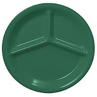 Thunder Group Three Compartment Plate - Green - 10-1/4