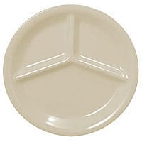 Thunder Group Three Compartment Plate - Ivory - 10-1/4