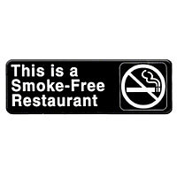 Thunder Group This Is A Smoke Free Restaurant Sign 9