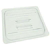 Thunder Group Sixth-Size Polycarbonate Solid Food Pan Covers (12 per Case) [PLPA7160C]