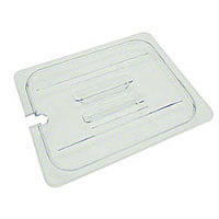 Thunder Group Sixth-Size Polycarbonate Slotted Food Pan Covers (12 per Case) [PLPA7160CS]