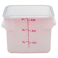 Thunder Group Polypropylene Food Storage Container 6 Qt (6 per Case) [PLSFT006PP]